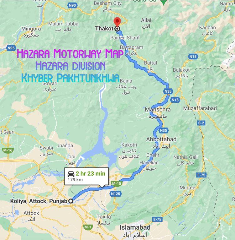 Hazara Motorway Map