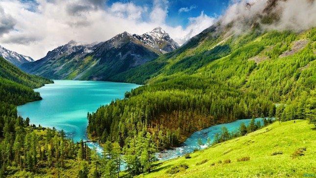 beautiful lake in swat